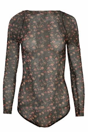 Floral motif sheer body od Dsquared2